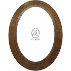"Oval Oak Frame 19.5"" x 13.75"" (490mm x 350mm)"