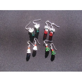 Swarovski Crystal Xmas Present Earrings